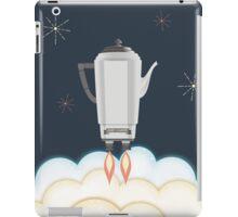 Retro sci fi coffee pot percolator rocket ship iPad Case/Skin
