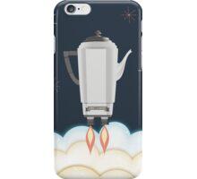 Retro sci fi coffee pot percolator rocket ship iPhone Case/Skin