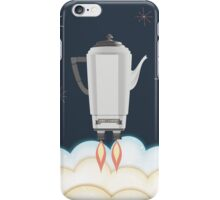 Retro sci fi coffee pot percolator rocket ship iPhone Case/Skin