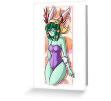 Easter Huntress Greeting Card
