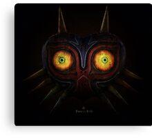 Legends of Zelda Majora's Mask Time's End Canvas Print
