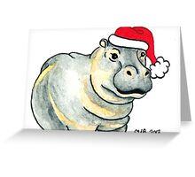 2013 Holiday ATC 17 - Ho Ho Ho Hippo Greeting Card