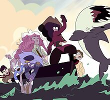 Crystal Gems on the high seas by Arielle Campbell
