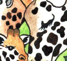 2013 Holiday ATC 19 - Holiday Giraffes Sticker
