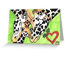 2013 Holiday ATC 19 - Holiday Giraffes Greeting Card