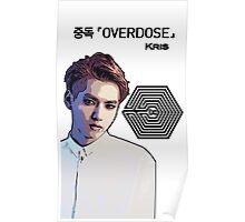 Exo Overdose Kris - Black Poster
