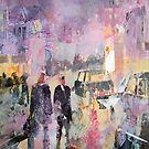 City Fog - Painting by Ballet Dance-Artist