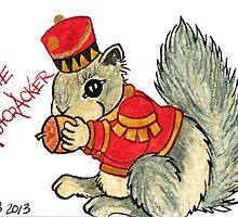 2013 Holiday ATC 22 - The Nutcracker Squirrel by ArtbyMinda