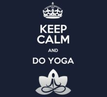 Keep Calm and do Yoga Kids Clothes