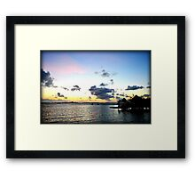 Vibrant Caribbean Sunrise In The Beautful Exumas, Bahamas Framed Print