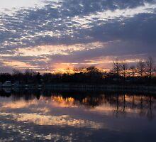 Violet Twilight on the Lake by Georgia Mizuleva