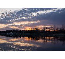 Violet Twilight on the Lake Photographic Print