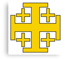 Jerusalem Cross  Canvas Print