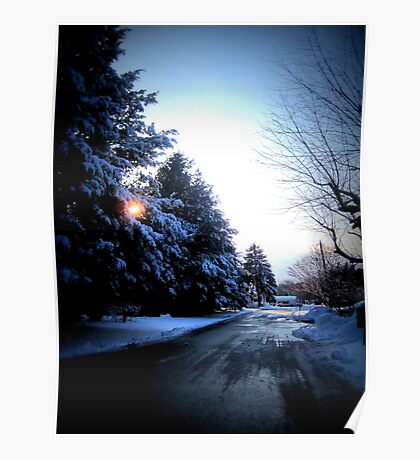 Wintry Road - Icy Poster