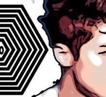 Exo Overdose Luhan - Black Sticker