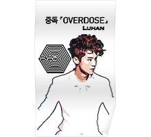 Exo Overdose Luhan - Black Poster
