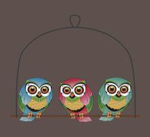 birds  One Piece - Short Sleeve
