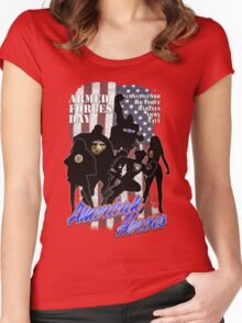 Armed Forces Day - American Heroes Women's Fitted Scoop T-Shirt