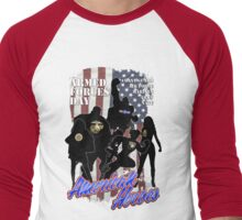 Armed Forces Day - American Heroes Men's Baseball ¾ T-Shirt