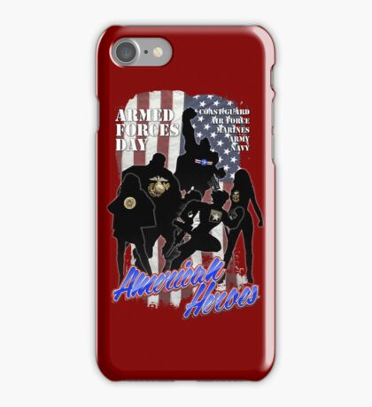 Armed Forces Day - American Heroes iPhone Case/Skin