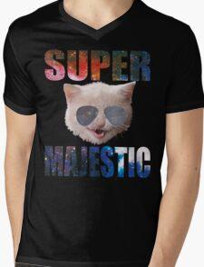 Super Majestic Mens V-Neck T-Shirt