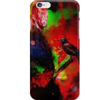 The blind samurai and his faithful crow iPhone Case/Skin