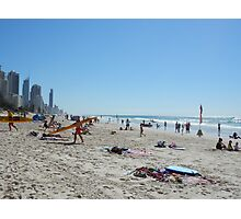 Surfers Paradise from Broadbeach Beach Easter Monday Photographic Print
