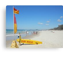 Surf Rescue Easter Monday Canvas Print