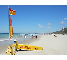 Surf Rescue Easter Monday Photographic Print
