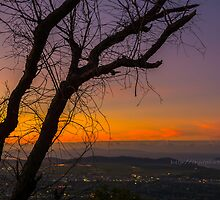 Sunset looking over Townsville from Mount Stuart by Ann-Maree Rickerby