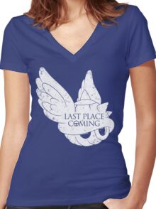 Last Place is Coming Women's Fitted V-Neck T-Shirt