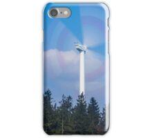 Wind turbine near Kniebis, Black Forest, Germany iPhone Case/Skin