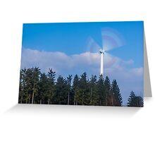 Wind turbine near Kniebis, Black Forest, Germany Greeting Card
