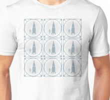 Delft blue tile effect Rocket scientist.  Unisex T-Shirt