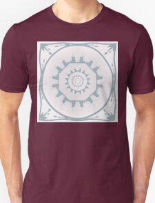Delft blue circles of windmills. Unisex T-Shirt