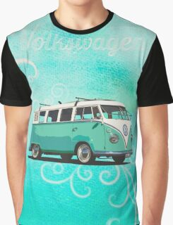 Volkswagen Kombi Mint Swirl © Graphic T-Shirt