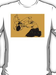 Martial Art ink Drawing - Aikido T-Shirt