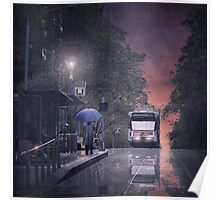 City via Bourke Poster