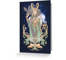 House of Loki: Lady Loki Greeting Card