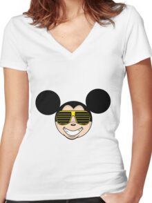 Mickey MK.II Women's Fitted V-Neck T-Shirt