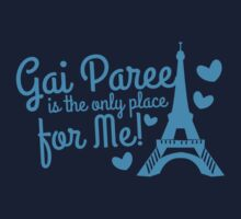 Gai Paree is the only place for me with Eiffel Tower Kids Clothes