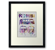 Volkswagen Kombi 3 Way (faded) © Framed Print
