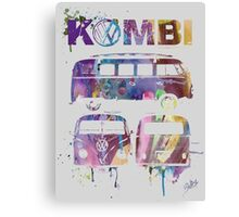 Volkswagen Kombi 3 Way (faded) © Canvas Print