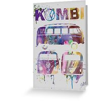 Volkswagen Kombi 3 Way (faded) © Greeting Card
