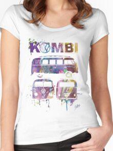 Volkswagen Kombi 3 Way (faded) © Women's Fitted Scoop T-Shirt
