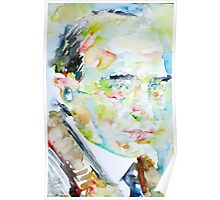 ROBERT MUSIL - watercolor portrait Poster