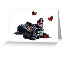 French Bulldog Ladybug Greeting Card