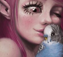 Parakeet Love by mlarsen