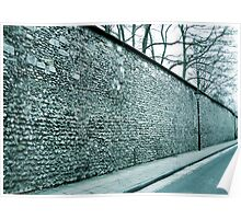 England Winter, Winchester, City Wall Poster