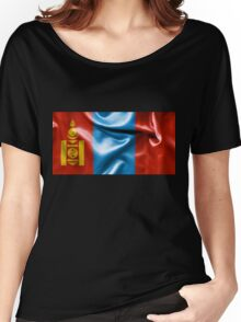 Mongolia Flag Women's Relaxed Fit T-Shirt
